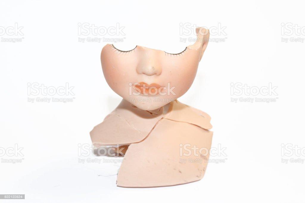 Broken Dolly Face and Limbs stock photo