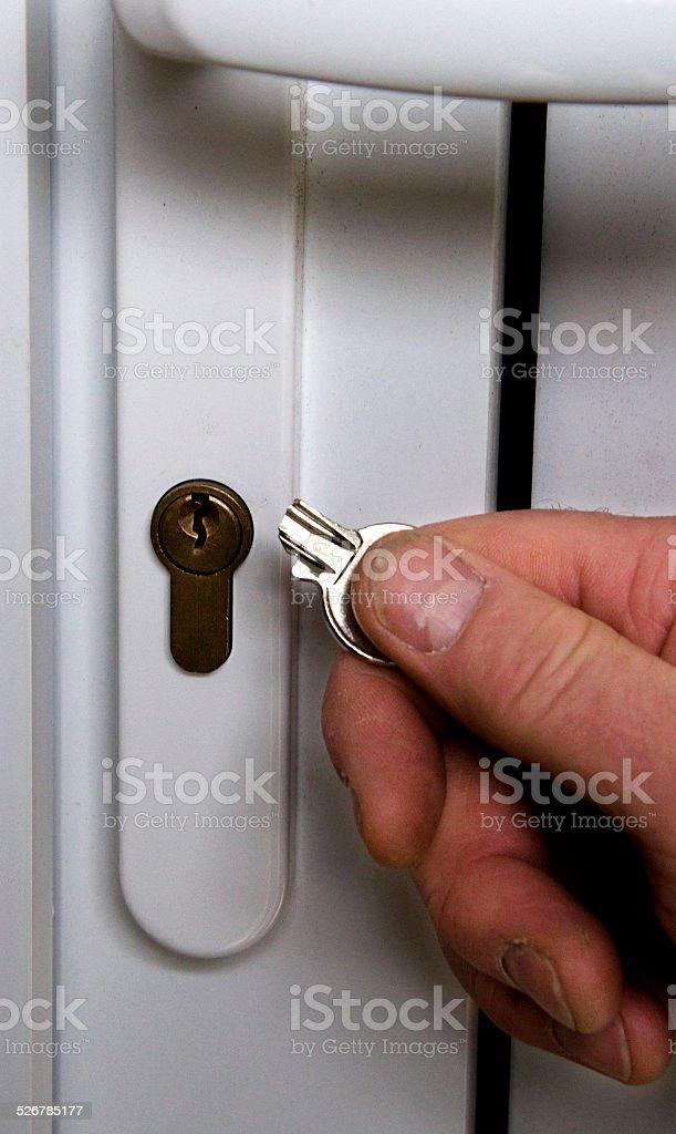 Broken Door Key stock photo