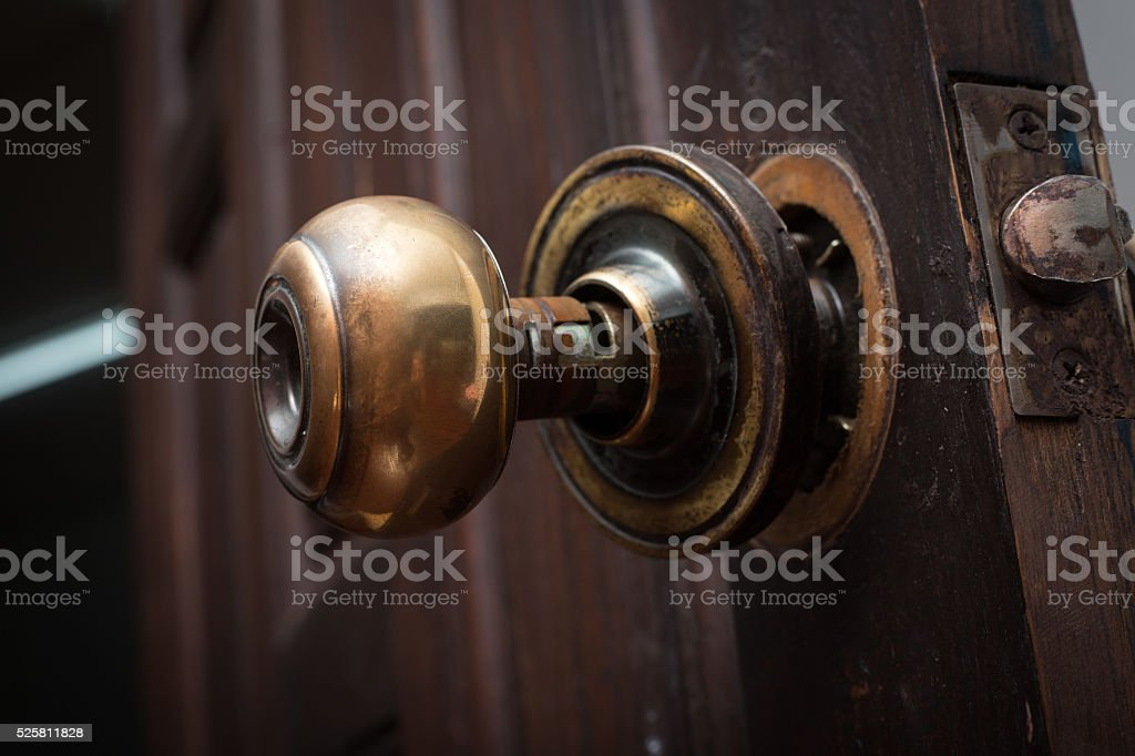 Broken Door Knob   Stock Image .