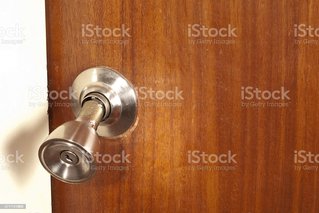 Beau Broken Doorknob Stock Photo