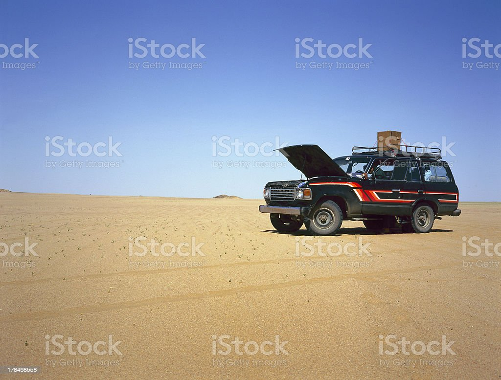 Broken down car royalty-free stock photo