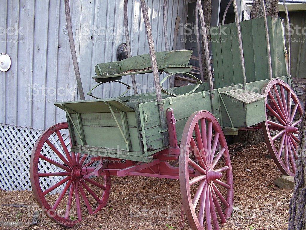 Broken Down Wagon royalty-free stock photo