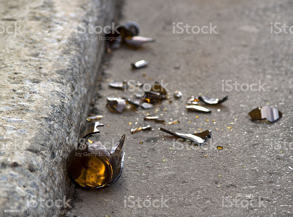 Broken dreams stock photo