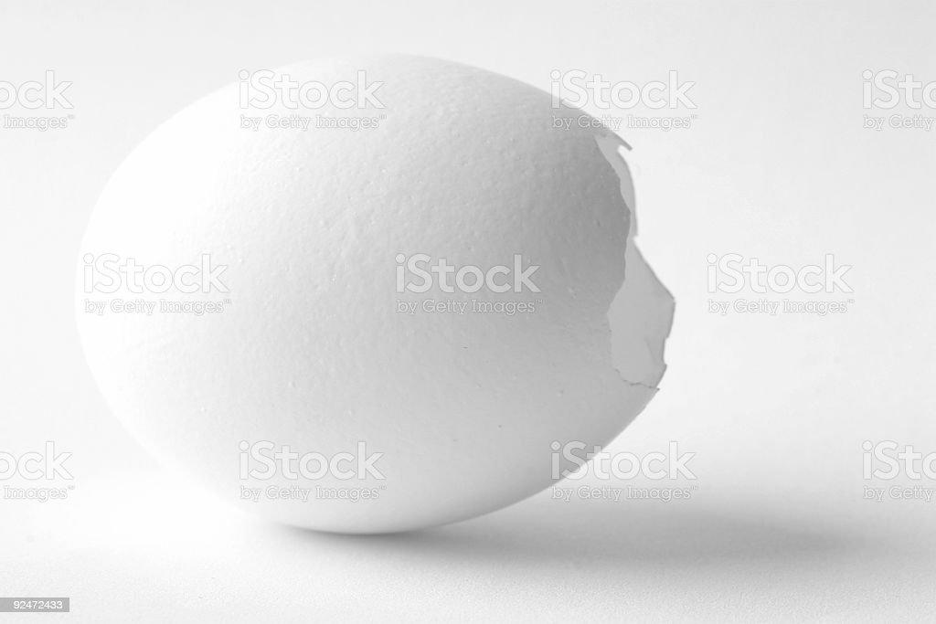 Broken egg. royalty-free stock photo