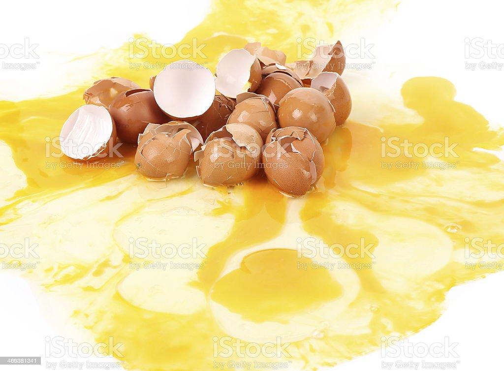 Broken Egg Shells. royalty-free stock photo