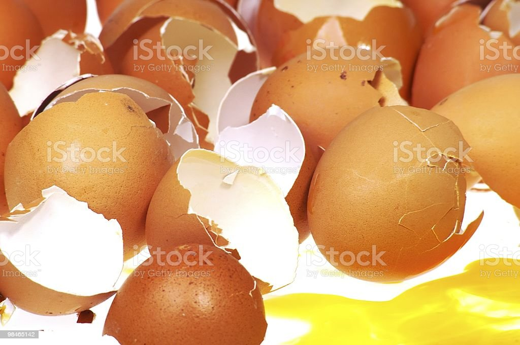 broken egg shells royalty-free stock photo