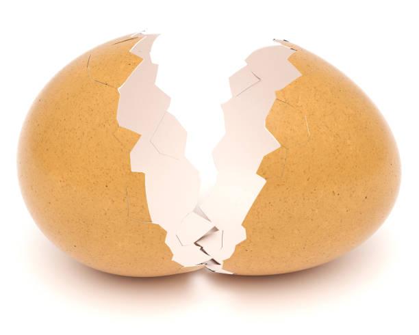 Broken Eggshell stock photo