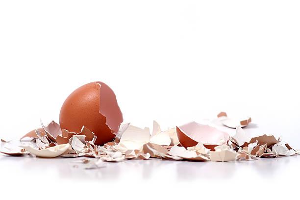 broken eggshells-englische Redewendung – Foto
