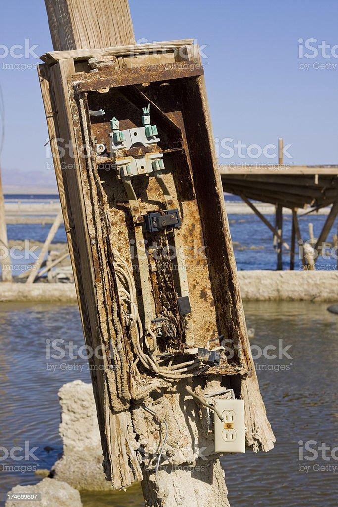broken electrical box royalty-free stock photo