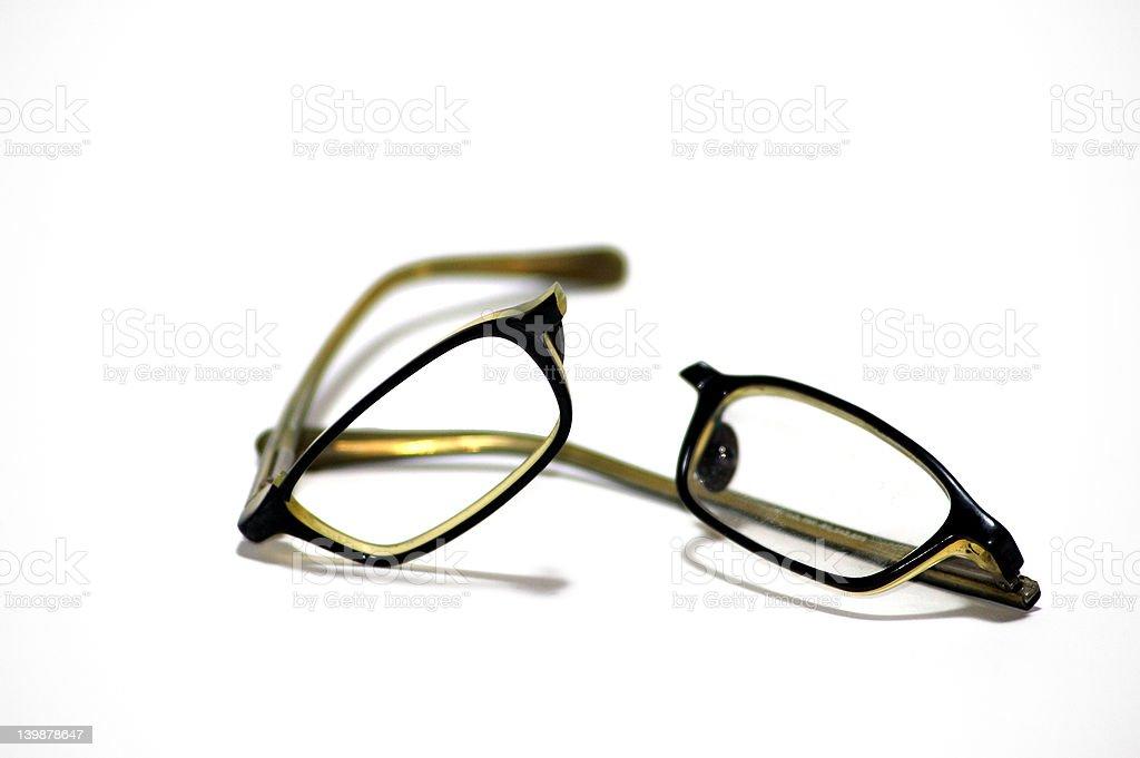 Broken eyeglasses one stock photo