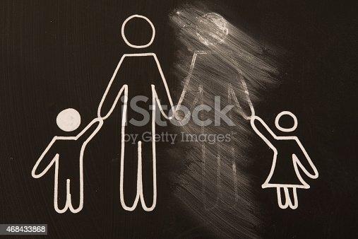 istock broken family on a blackboard 468433868