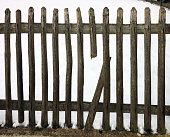 istock Broken Fence 499661123