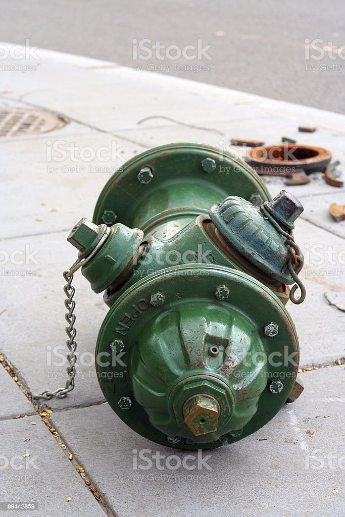 Broken Fire Hydrant royalty-free stock photo