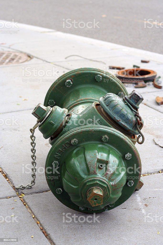 Broken Fire Hydrant stock photo