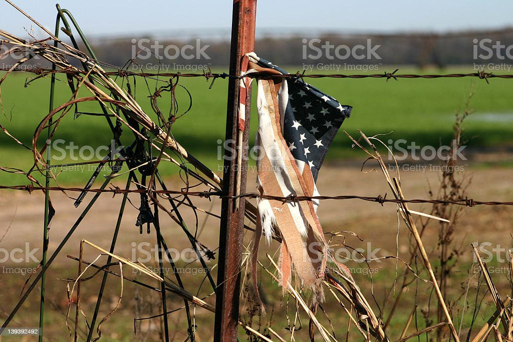 Broken flag royalty-free stock photo