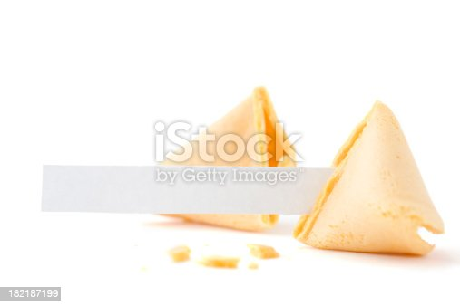 Broken Fortune Cookie with Blank Fortune.