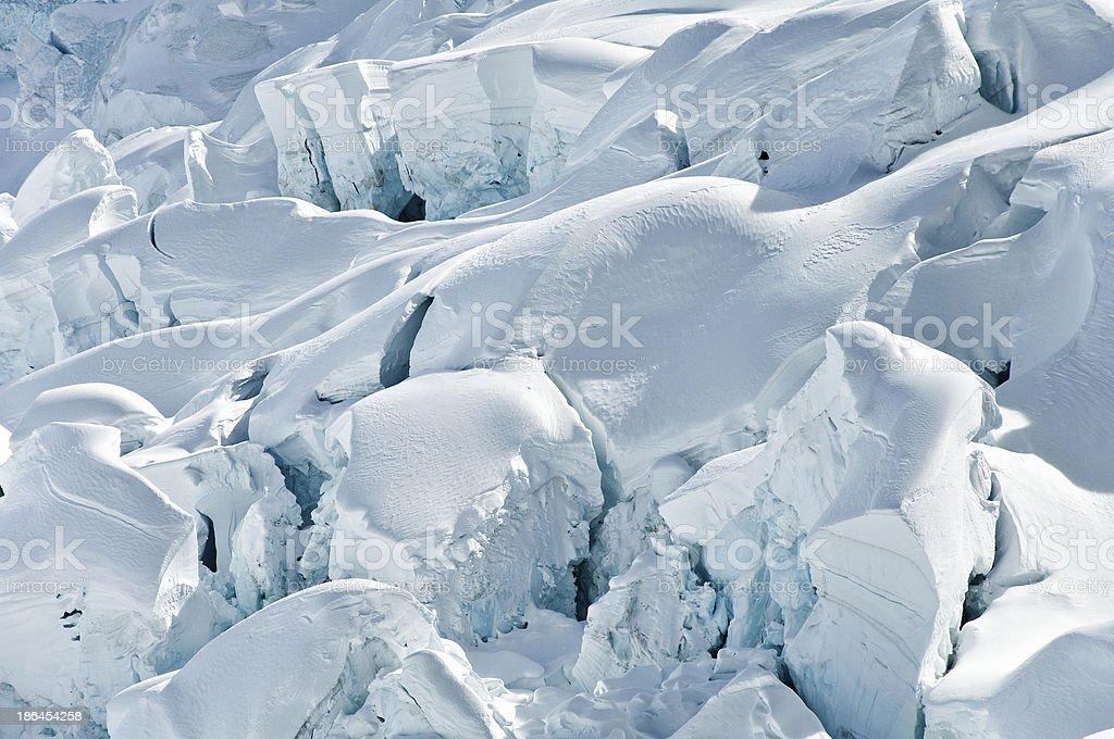 Broken glacier ice pieces royalty-free stock photo