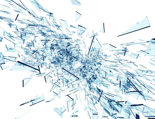 Broken Glass Abstract background stock photo