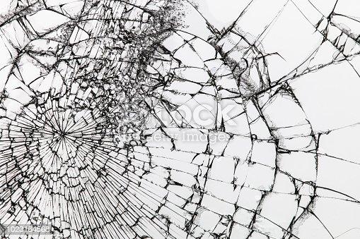 882262948 istock photo Broken glass on white background. Shattered glass. 1023164568