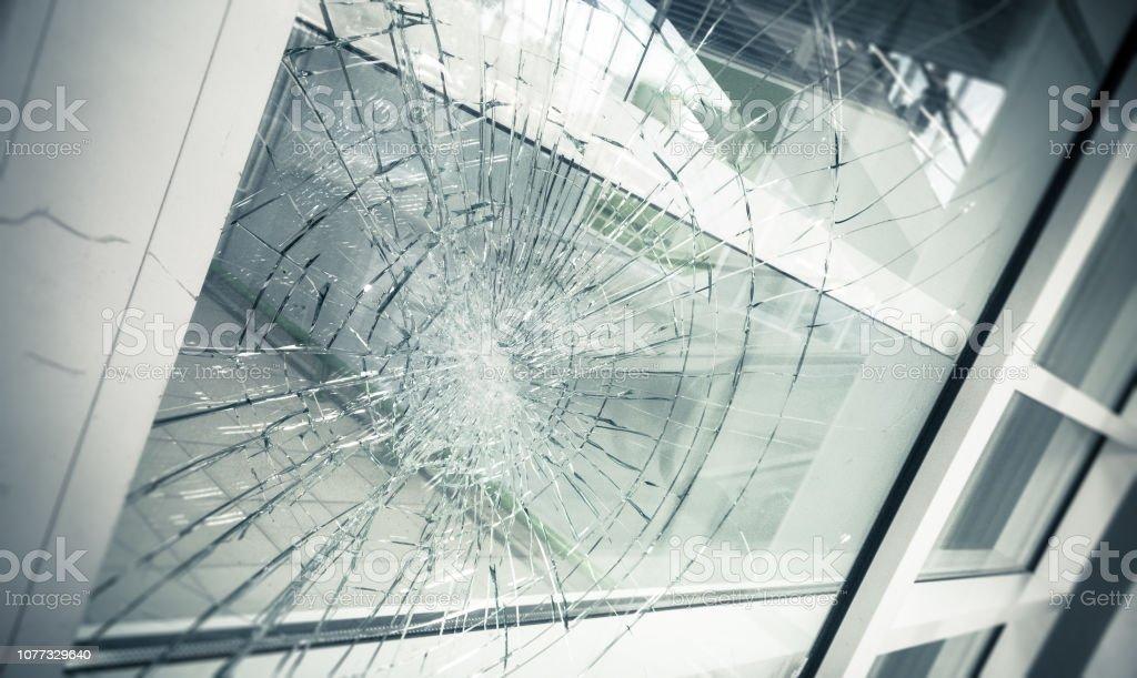 gebroken glas - Royalty-free Beveiliging Stockfoto