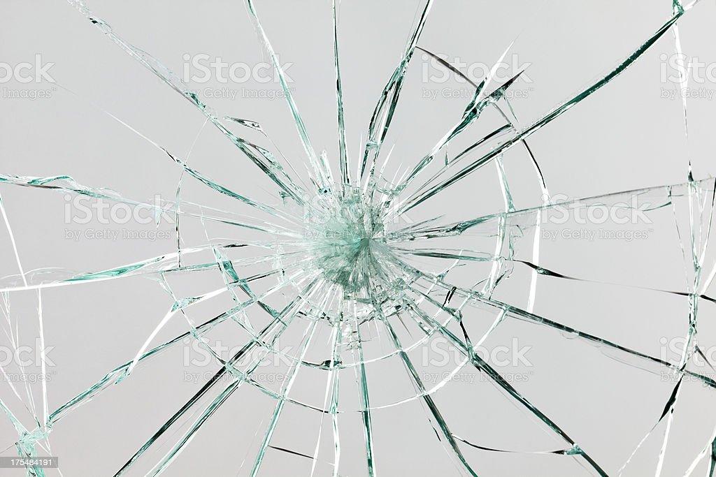 Rotura de vidrio - foto de stock