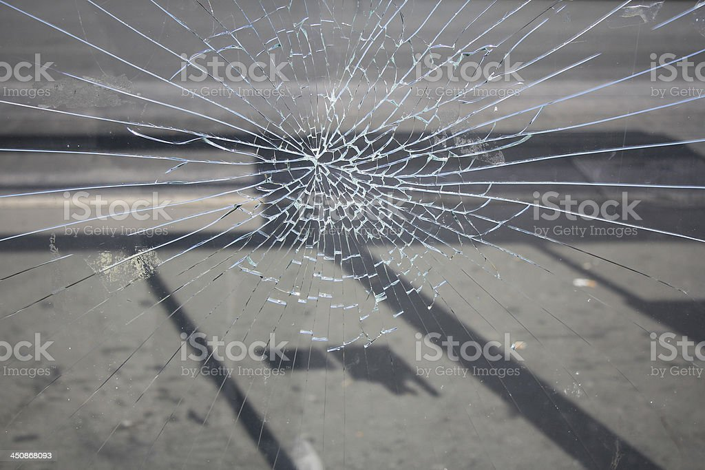 Broken glass stock photo