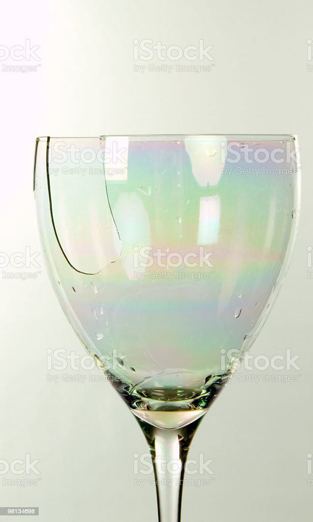 broken glass royalty-free stock photo