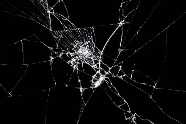 Broken glass texture. Abstract of cracked screen Smartphone from shock. Texture broken glass with cracks. Abstract of cracked screen Smartphone from shock. cracked stock pictures, royalty-free photos & images