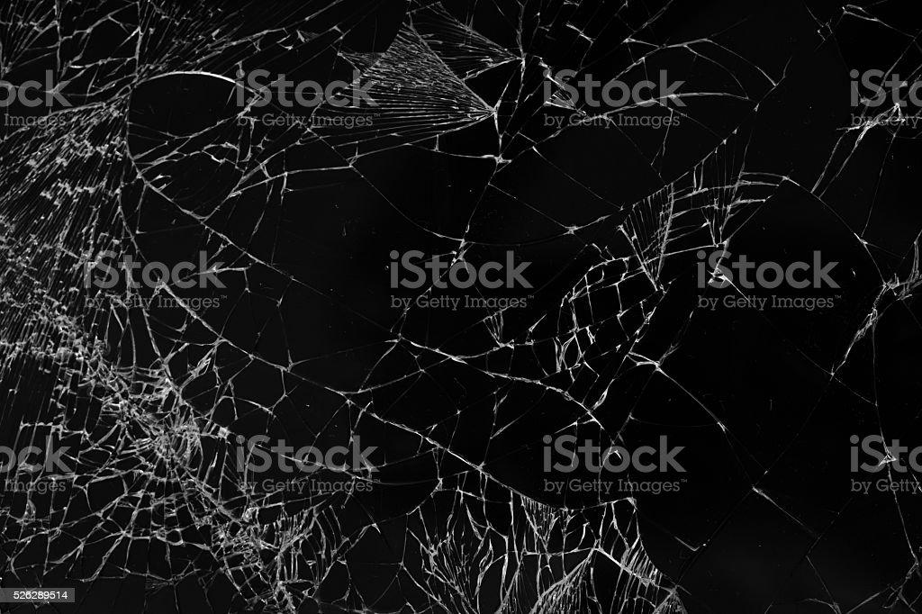 broken glass texture background stock photo