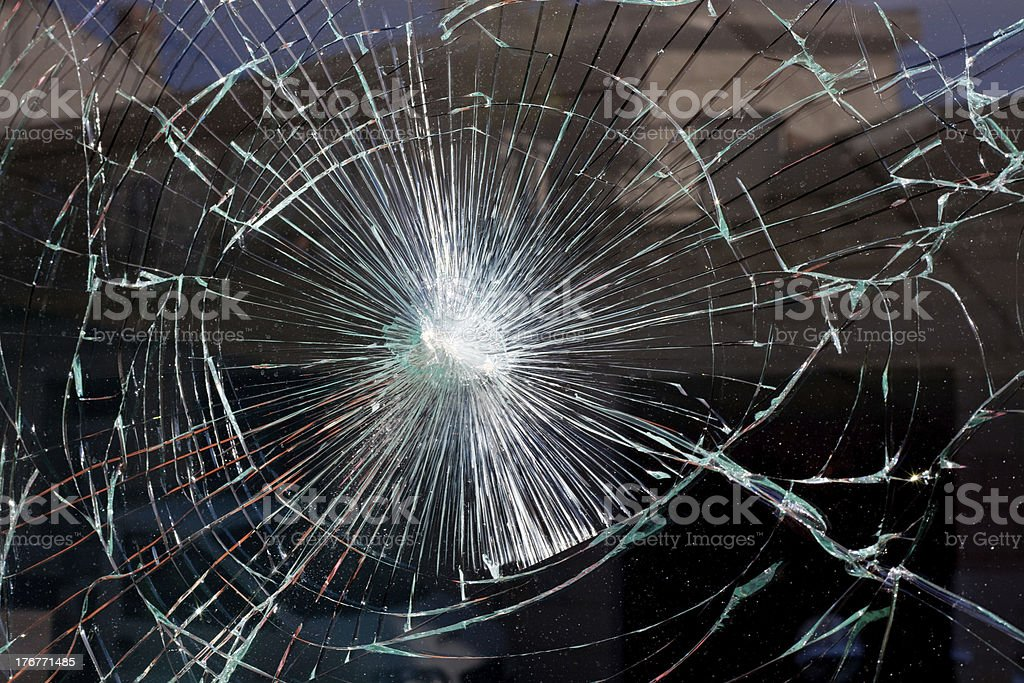 broken glass web royalty-free stock photo