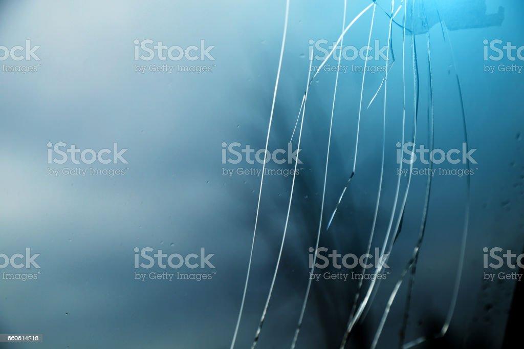 Broken glass window royalty-free stock photo