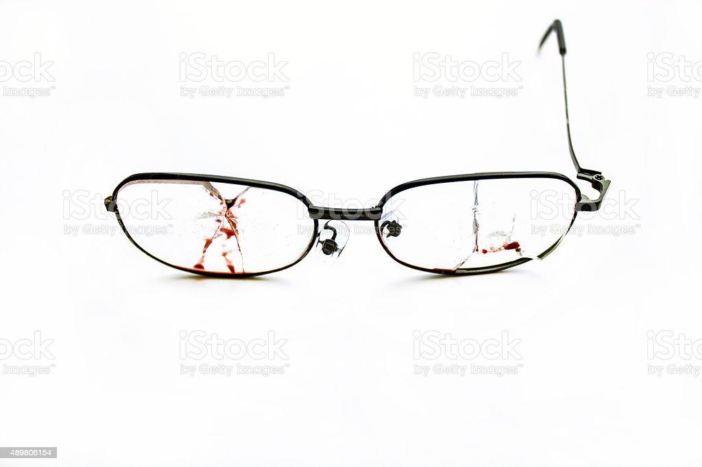 Broken Glasses 012 stock photo