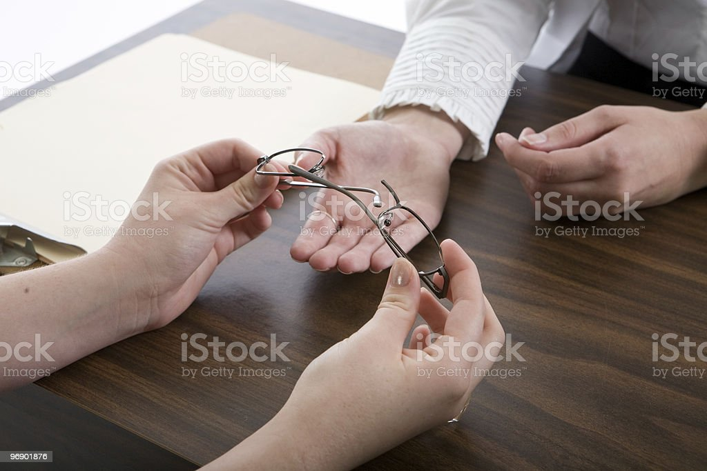 Broken Glasses royalty-free stock photo