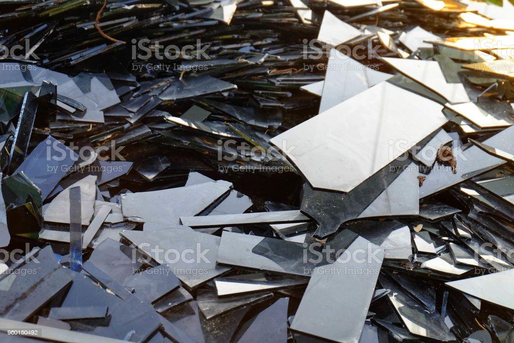 Broken Glassheap Of Mirror Fragmentsbroken Black Mirror To Recycle Stock Photo Download Image Now Istock