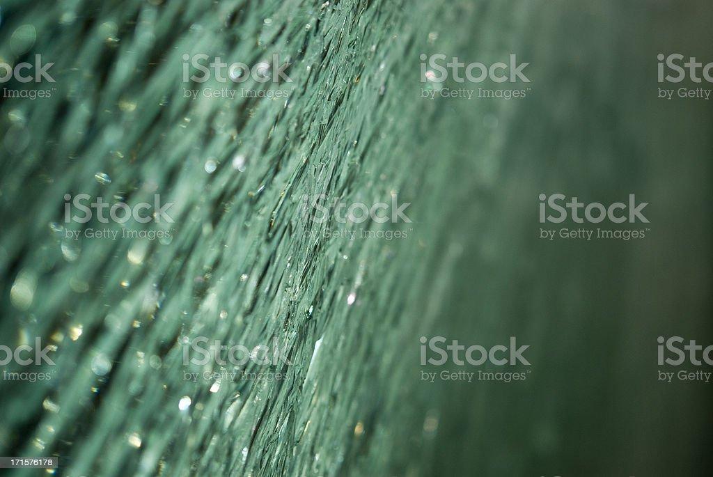 Broken Green Glas Macro stock photo
