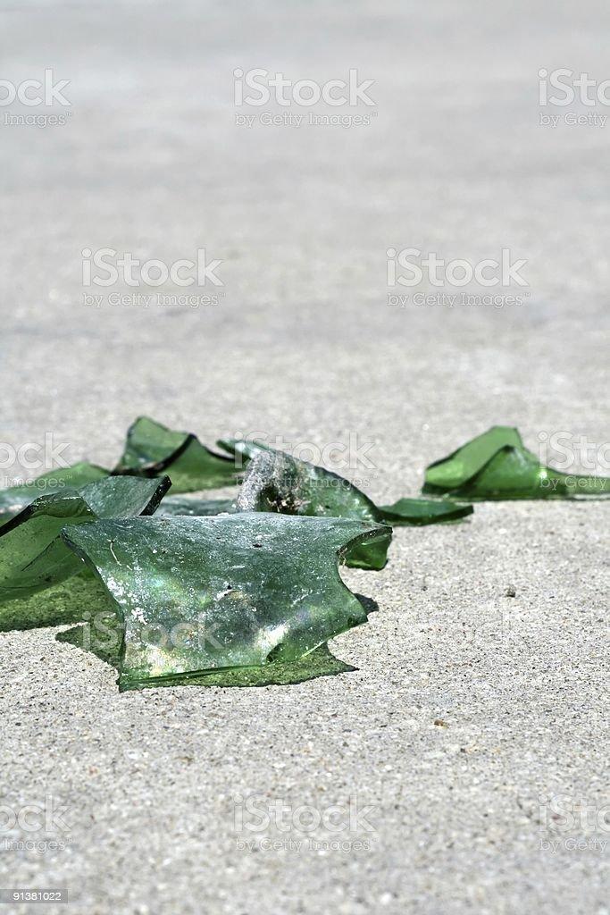 Broken Green Glass royalty-free stock photo