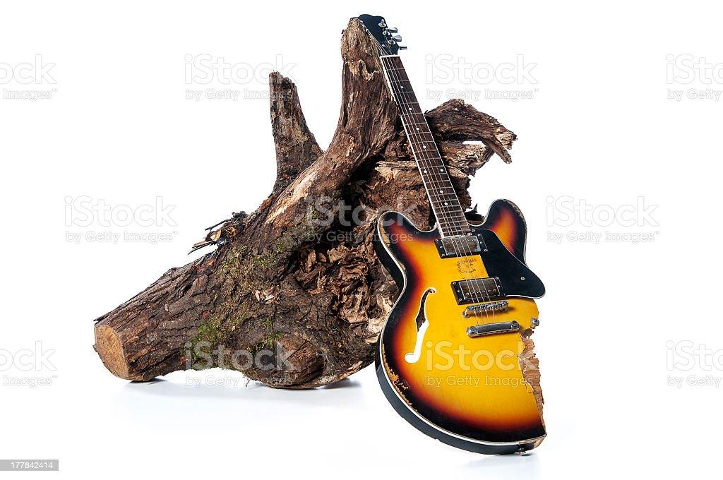broken guitar and billets royalty-free stock photo