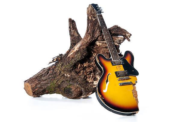 broken guitar and billets - broken guitar stock photos and pictures