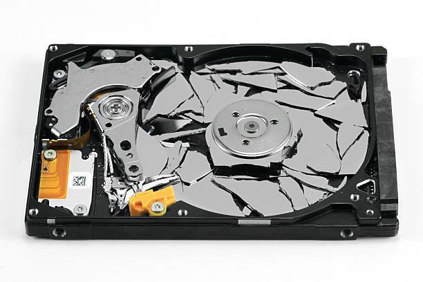 Broken Hard Disk Drive stock photo