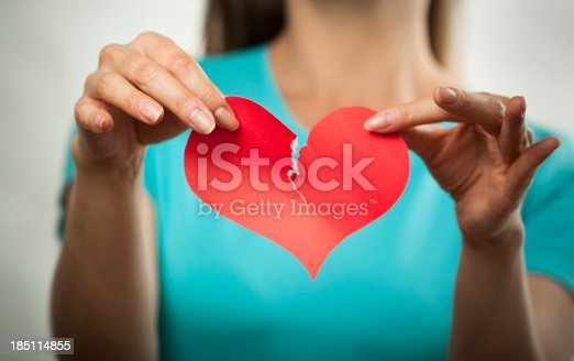 istock Broken heart and breaking up concept 185114855
