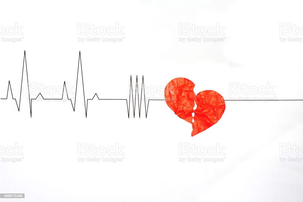 Broken Heart Breakup Concept Separation Infarction And Divorce Icon ...