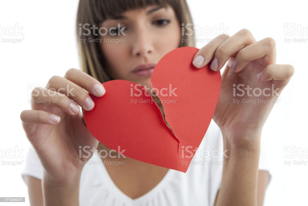 Broken Heart Girl stock photo
