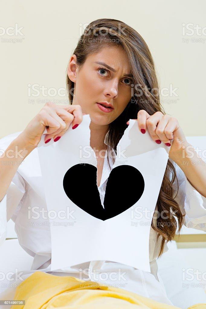 Cœur brisé fille photo libre de droits