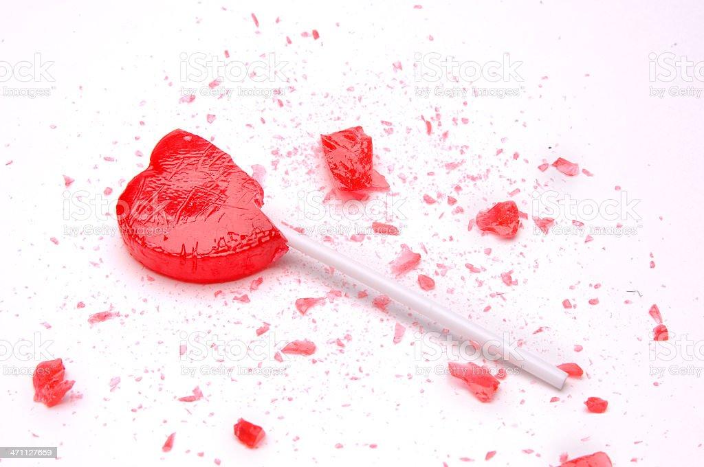 Broken Heart Lollipop stock photo