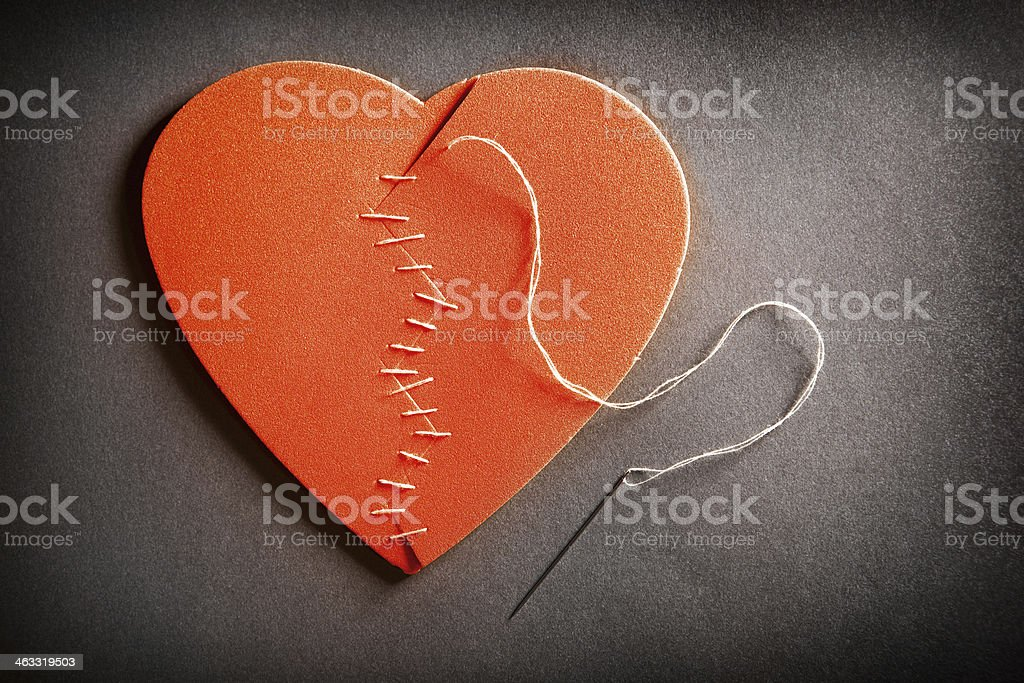 Broken Heart On The Mend stock photo