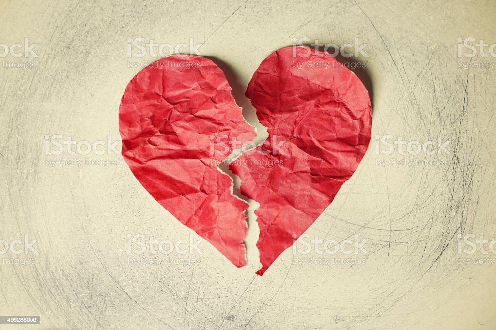 Broken heart bildbanksfoto