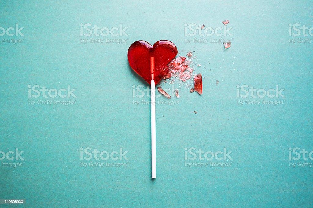 broken heart stock photo
