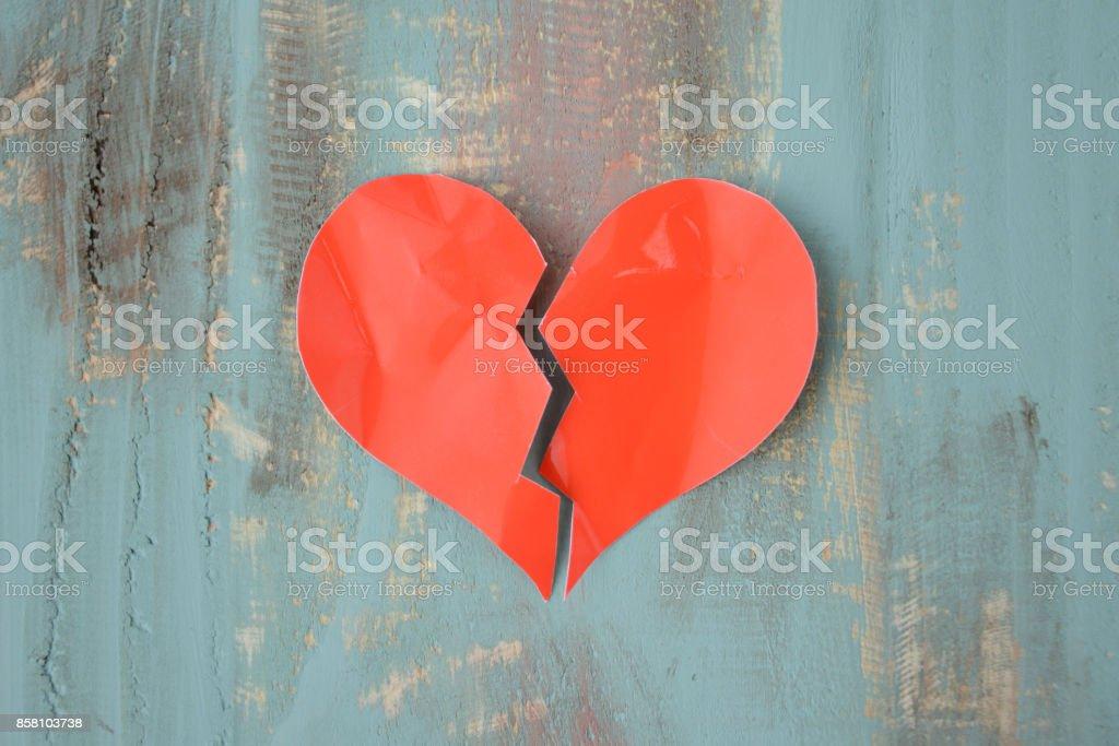 Brustet hjärta bildbanksfoto