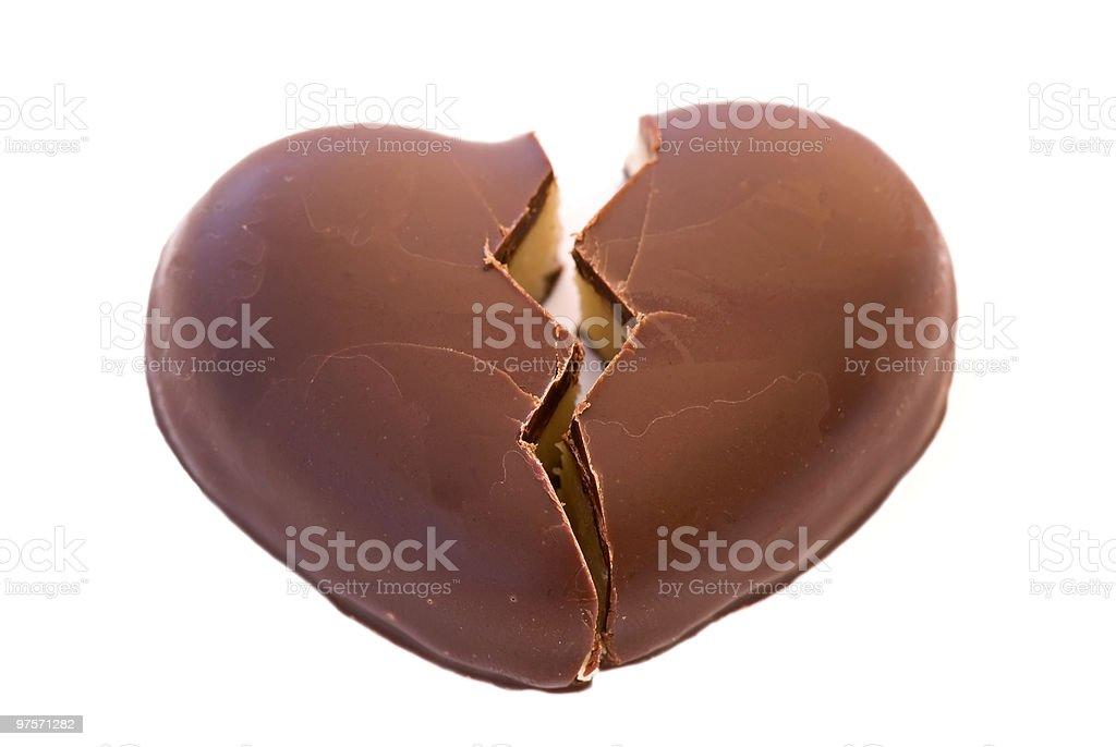 Cœur brisé photo libre de droits