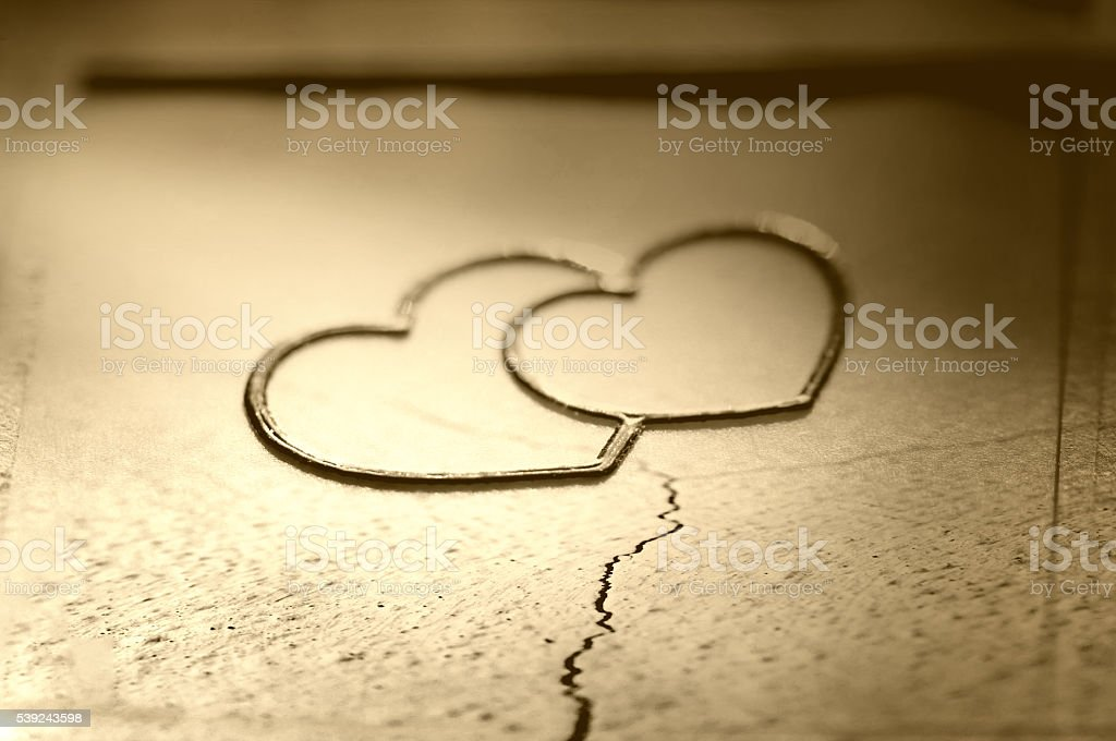 Broken hearts royalty-free stock photo